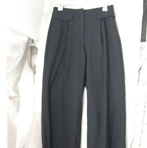 Theory Black Wool High Rise Trousers Size 4
